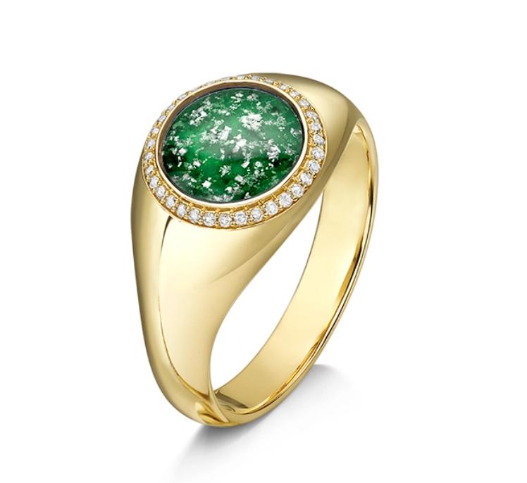 Halo Signet Ring
